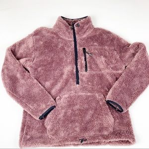Pink 3/4 zip plum sweater